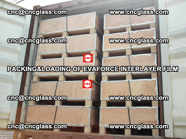 PACKING&LOADING OF EVAFORCE INTERLAYER FILM for safety laminated glass (22)