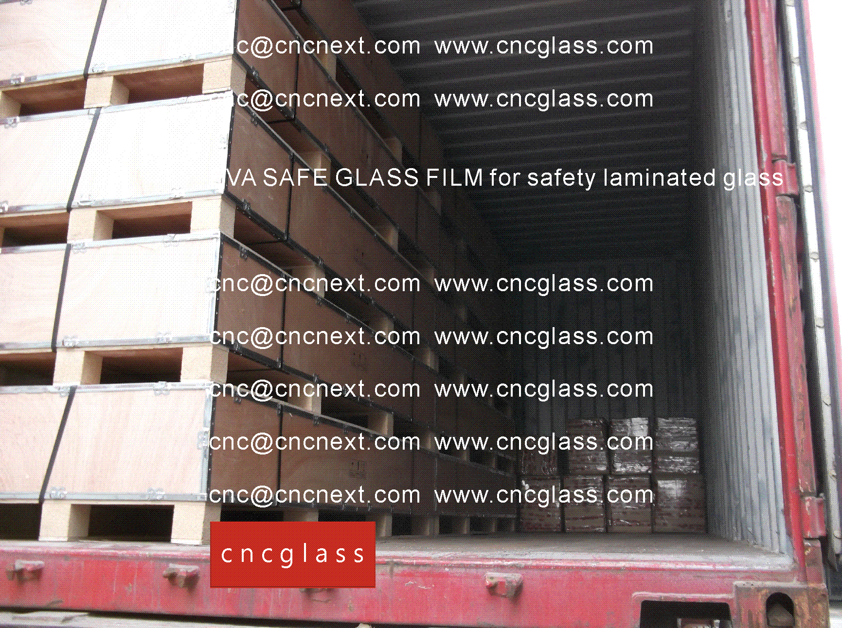002 EVA SAFE GLASS FILM LOADING CONTAINER (SAFETY LAMINATED GLASS)