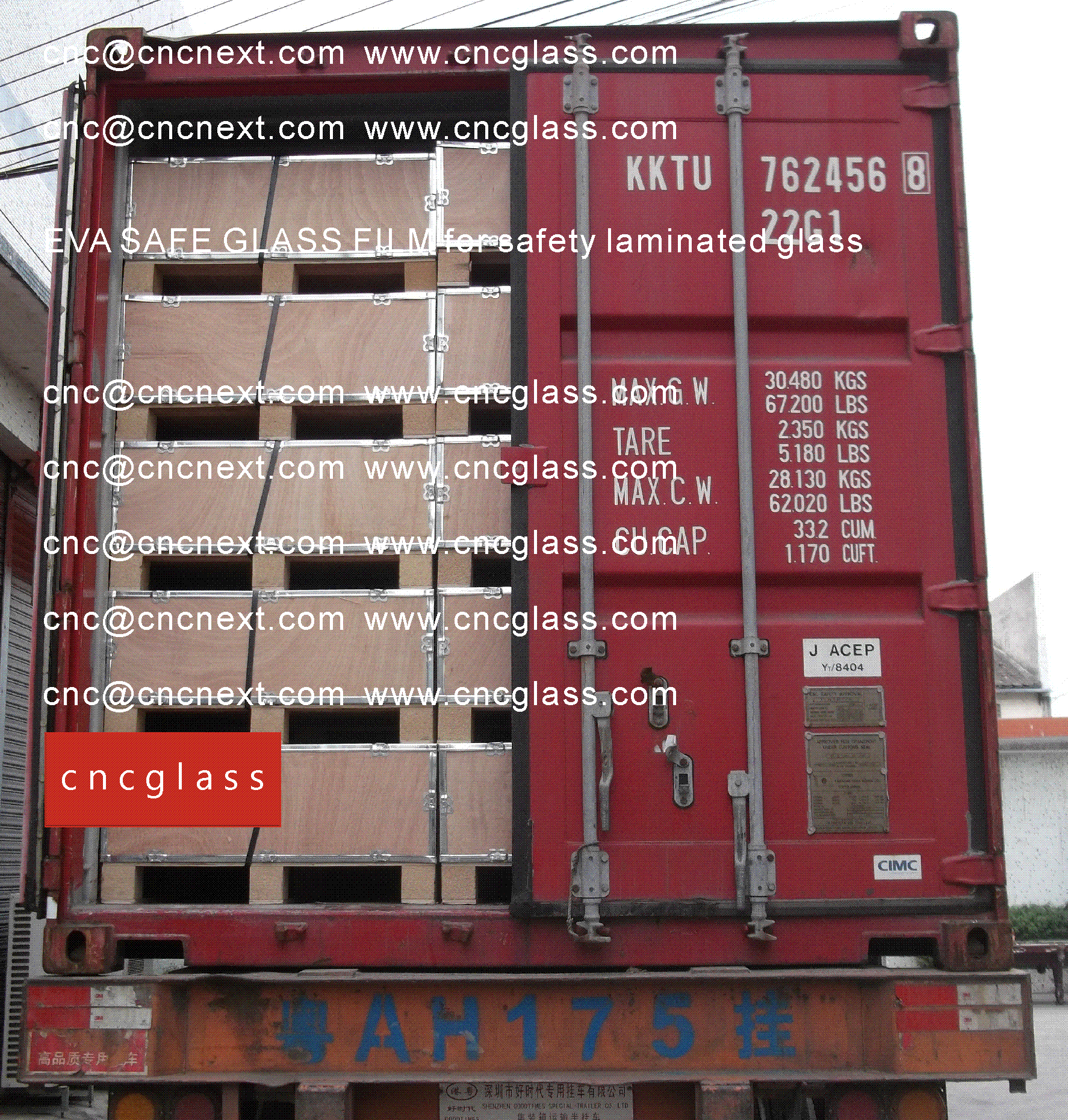 006 EVA SAFE GLASS FILM LOADING CONTAINER (SAFETY LAMINATED GLASS)
