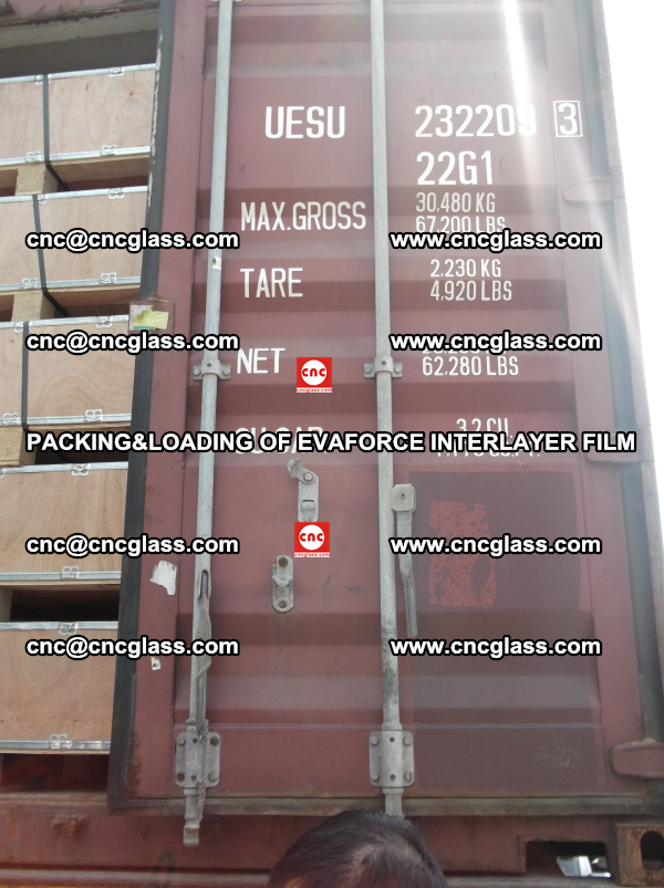 PACKING&LOADING OF EVAFORCE INTERLAYER FILM for safety laminated glass (23)