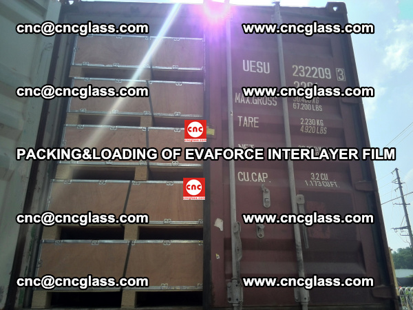 PACKING&LOADING OF EVAFORCE INTERLAYER FILM for safety laminated glass (24)