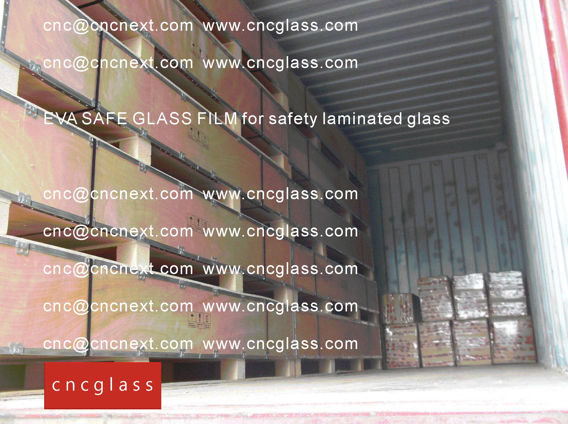 003 EVA SAFE GLASS FILM LOADING CONTAINER (SAFETY LAMINATED GLASS)