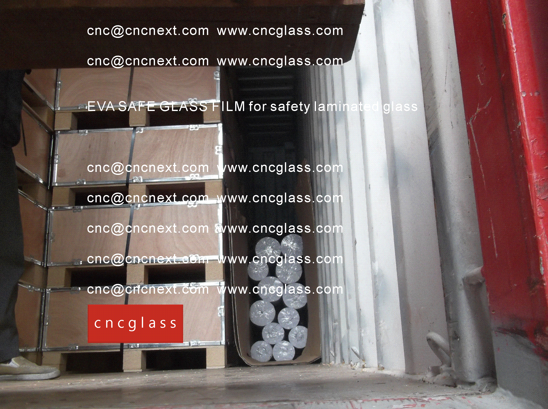 005 EVA SAFE GLASS FILM LOADING CONTAINER (SAFETY LAMINATED GLASS)
