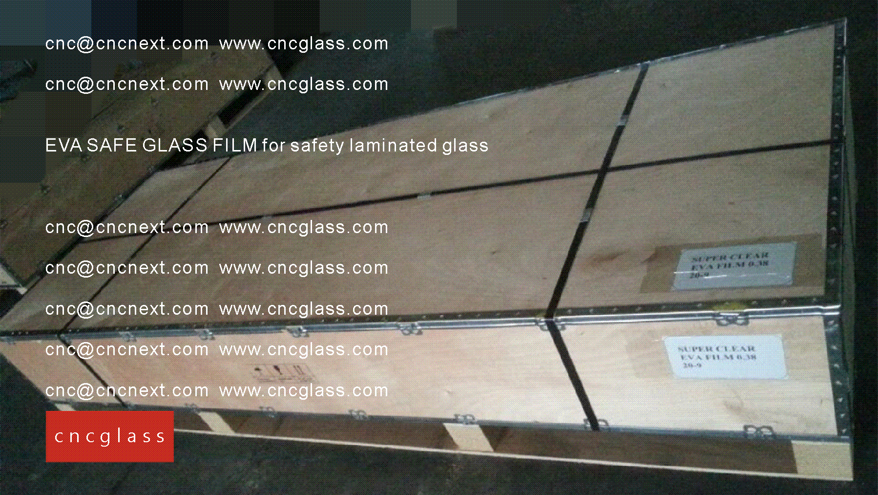 008 EVA SAFE GLASS FILM LOADING CONTAINER (SAFETY LAMINATED GLASS)