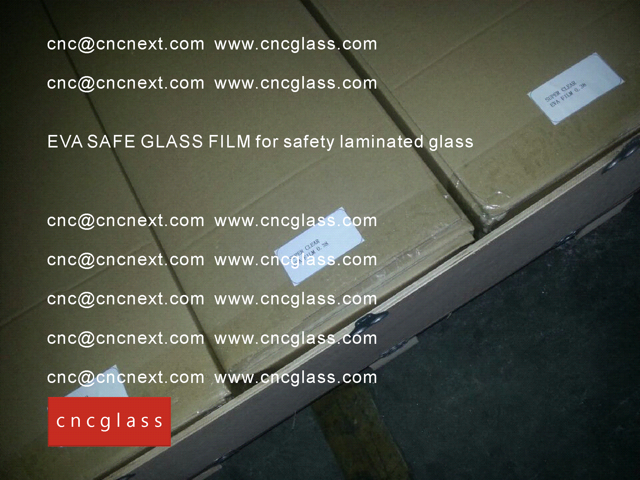 009 EVA SAFE GLASS FILM LOADING CONTAINER (SAFETY LAMINATED GLASS)
