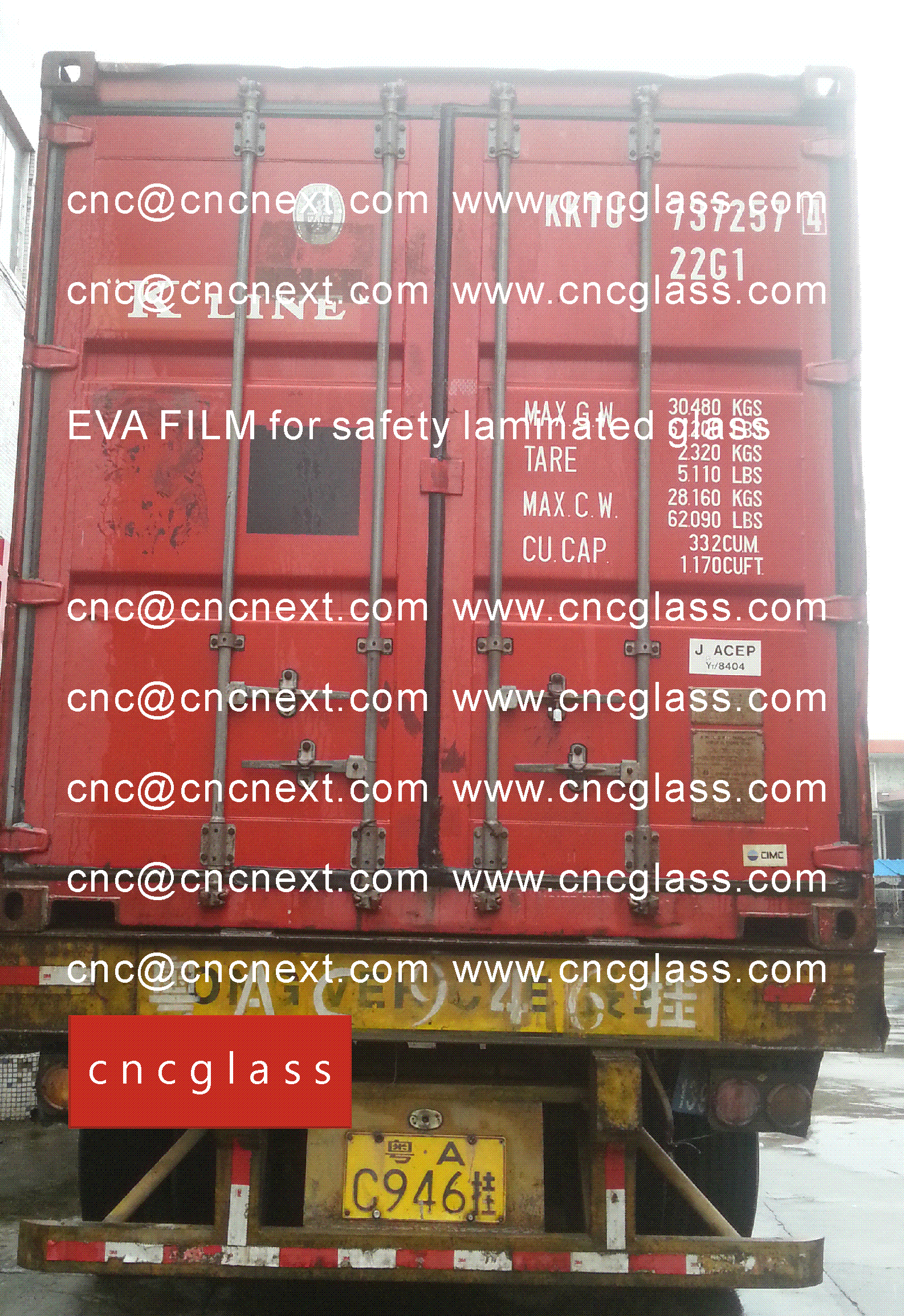 03 EVALAM INATING FILM LOADING CONTAINER (SAFETY LAMINATED GLASS)