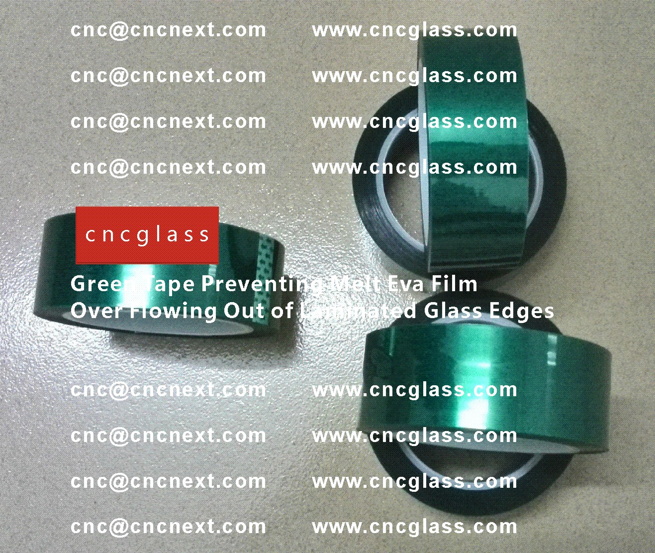 004 Green Tape Preventing Melt Eva Film Over Flowing Out of Laminated Glass Edges