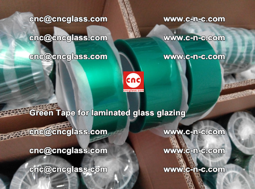 High Temperature PET Silicone Green Tape for Safety glass laminating (17)
