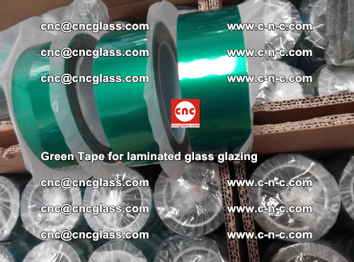 High Temperature PET Silicone Green Tape for Safety glass laminating (20)