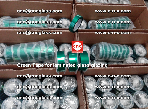 High Temperature PET Silicone Green Tape for Safety glass laminating (22)