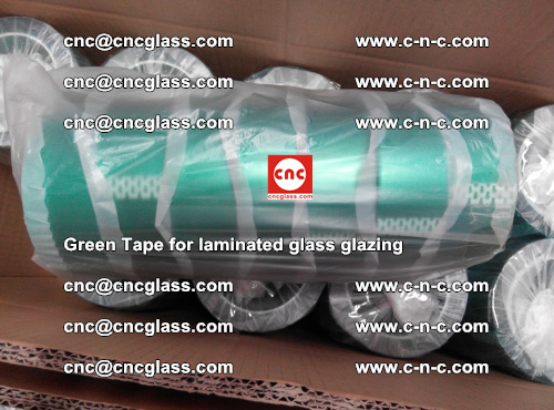 High Temperature PET Silicone Green Tape for Safety glass laminating (44)