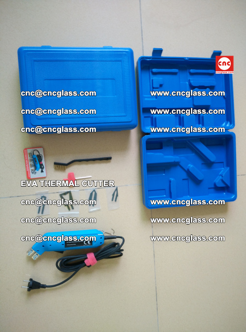 EVA THERMAL CUTTER, Cleaning EVA laminated glass edges (31)