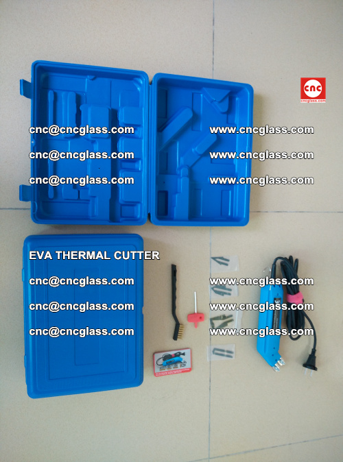 EVA THERMAL CUTTER, Cleaning EVA laminated glass edges (33)