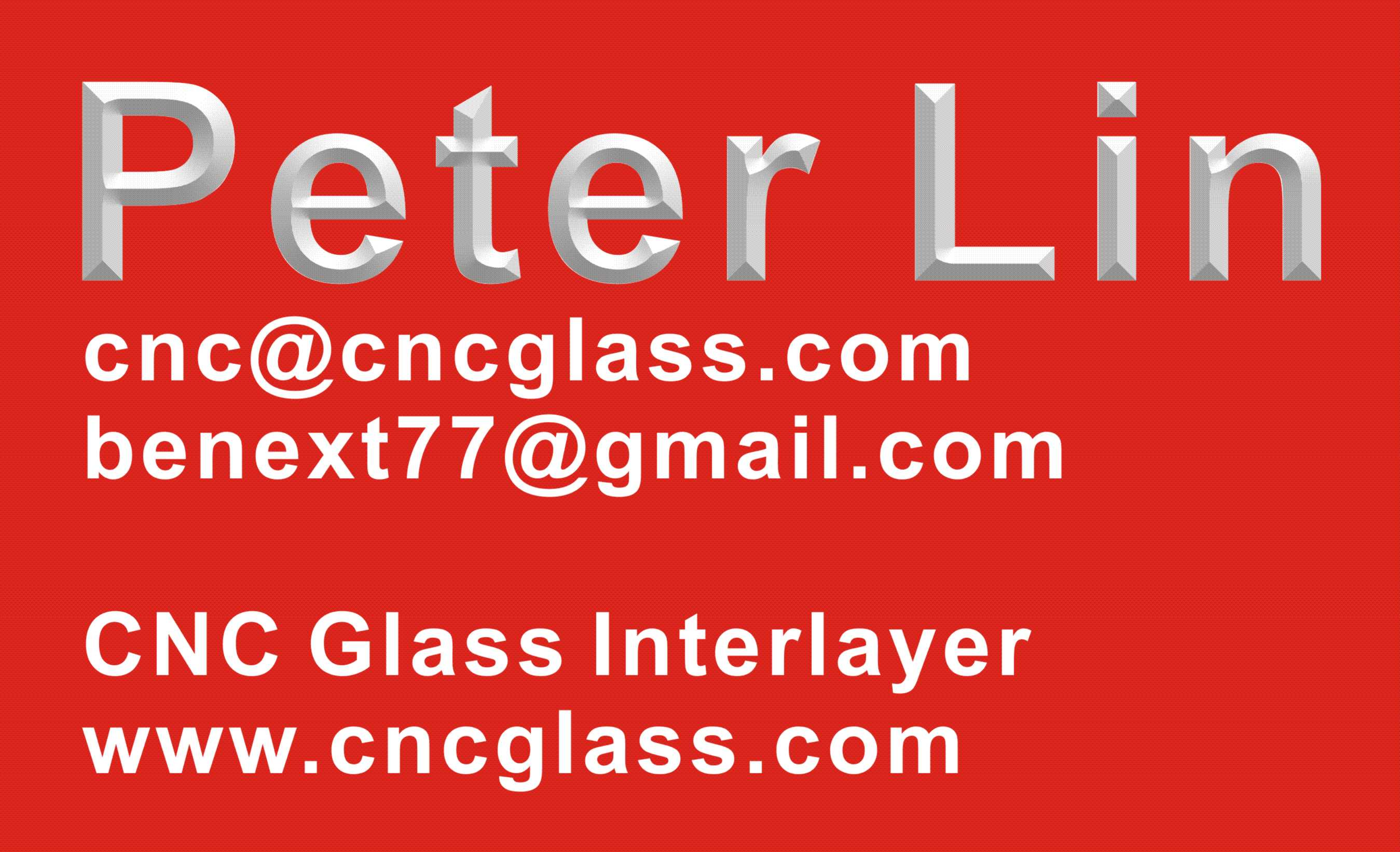 Peter Lin CNC Glass Interlayer Tech