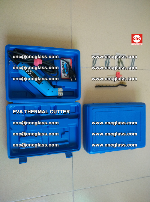 EVA THERMAL CUTTER, Cleaning EVA laminated glass edges (15)