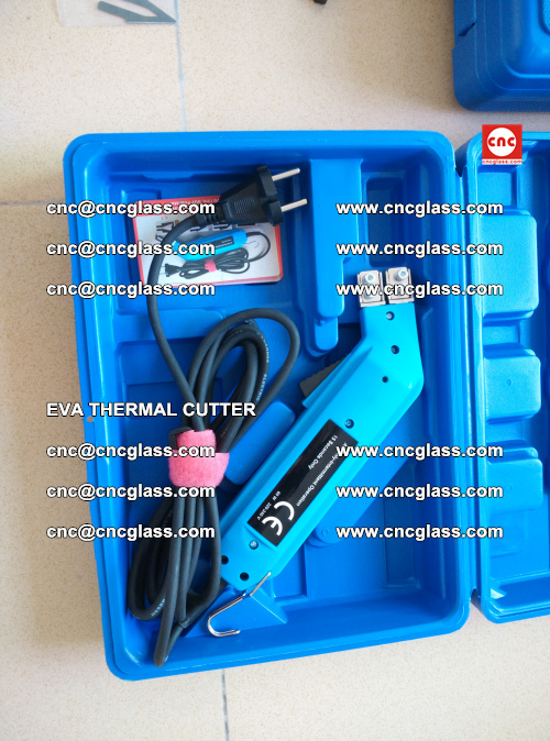 EVA THERMAL CUTTER, Cleaning EVA laminated glass edges (16)