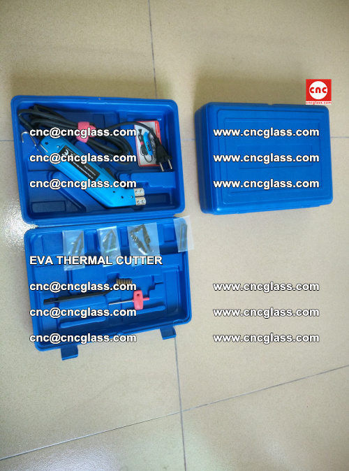 EVA THERMAL CUTTER, Cleaning EVA laminated glass edges (3)