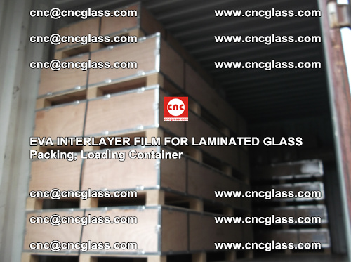 EVA interlayer film for laminated glass, packing, loading container (3)