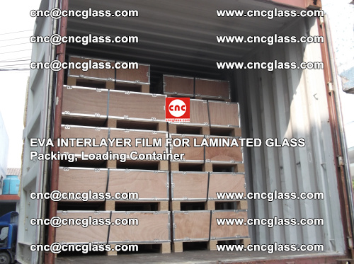 EVA interlayer film for laminated glass, packing, loading container (4)