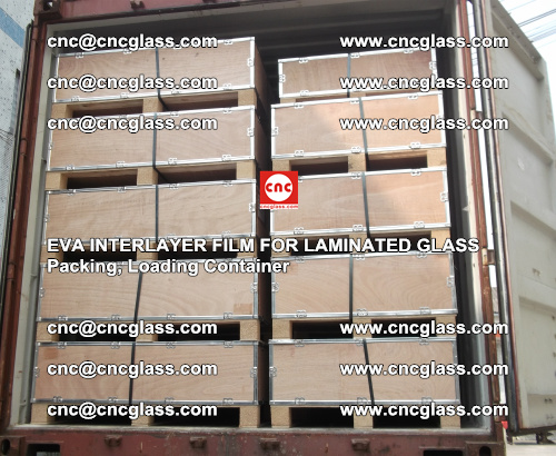 EVA interlayer film for laminated glass, packing, loading container (7)