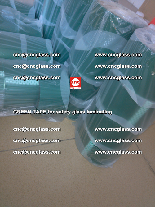 Green Tape for safety glass laminating, EVA FILM, PVB FILM, SGP FILM (35)