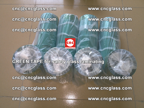 Green Tape for safety glass laminating, EVA FILM, PVB FILM, SGP FILM (66)