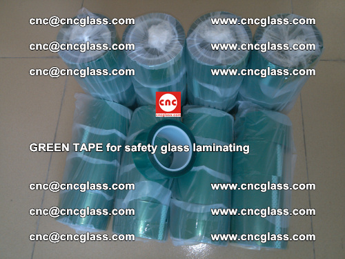 Green Tape for safety glass laminating, EVA FILM, PVB FILM, SGP FILM (72)