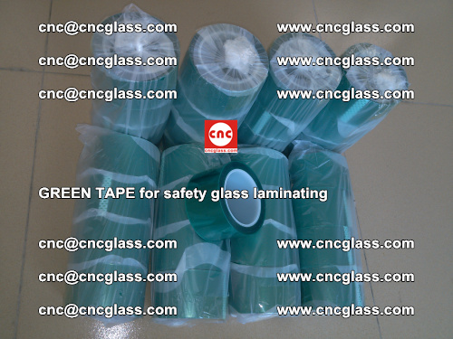 Green Tape for safety glass laminating, EVA FILM, PVB FILM, SGP FILM (75)