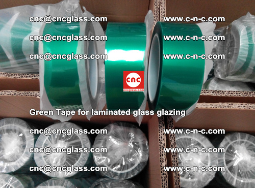 High Temperature PET Silicone Green Tape for Safety glass laminating (19)