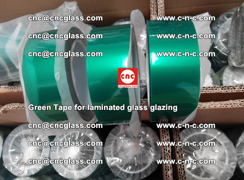 High Temperature PET Silicone Green Tape for Safety glass laminating (21)