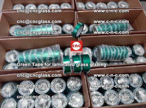 High Temperature PET Silicone Green Tape for Safety glass laminating (24)