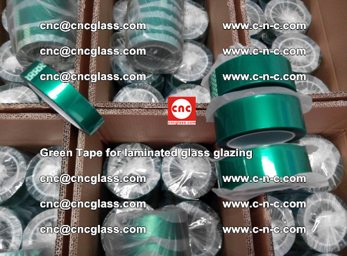 High Temperature PET Silicone Green Tape for Safety glass laminating (32)