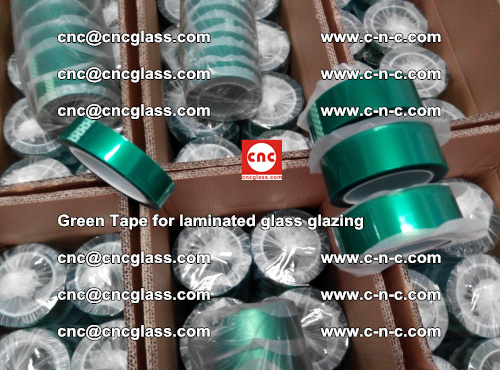 High Temperature PET Silicone Green Tape for Safety glass laminating (34)