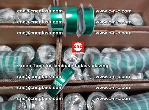 High Temperature PET Silicone Green Tape for Safety glass laminating (35)