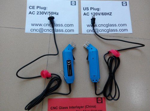 Thermal Interlayer Trimmers, electrics plug, for safety laminated glass (35)