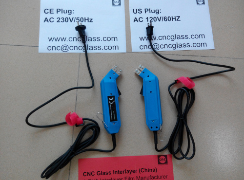 Thermal Interlayer Trimmers, electrics plug, for safety laminated glass (36)