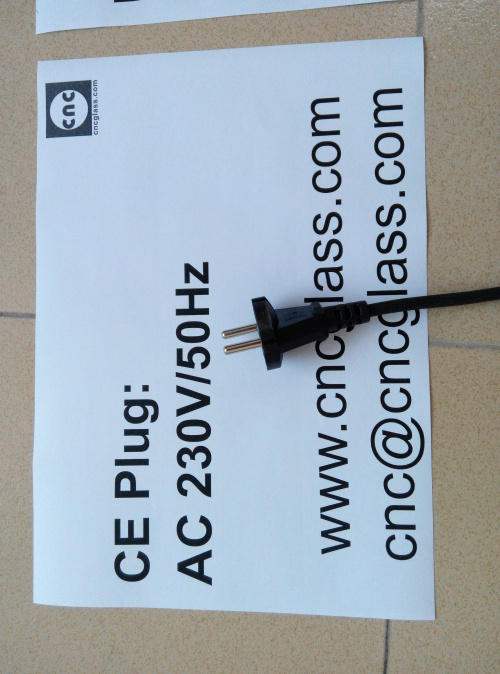 Thermal Interlayer Trimmers, electrics plug, for safety laminated glass (4)