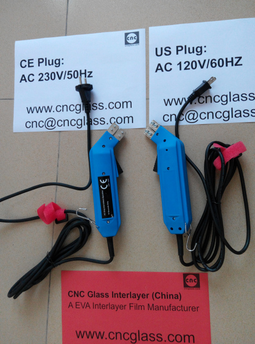 Thermal Interlayer Trimmers, electrics plug, for safety laminated glass (44)
