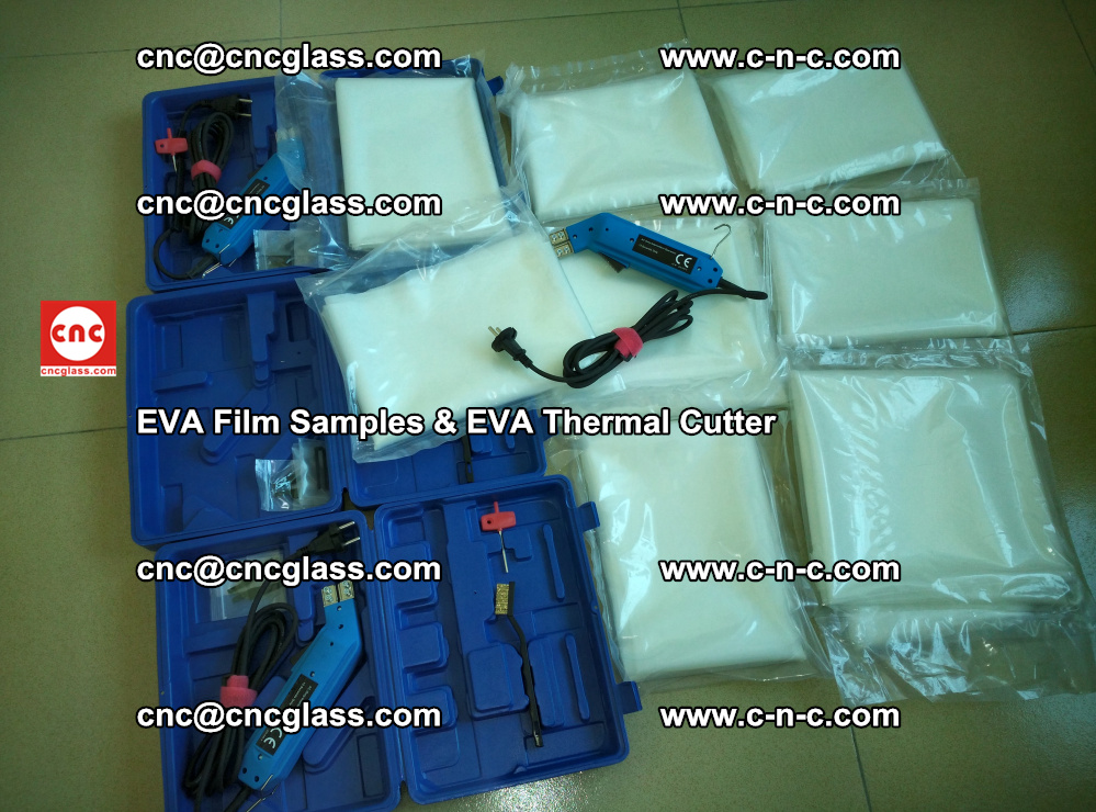 EVAFORCE SUPER CLEAR EVA Film Samples and EVA Thermal Cutter (12)