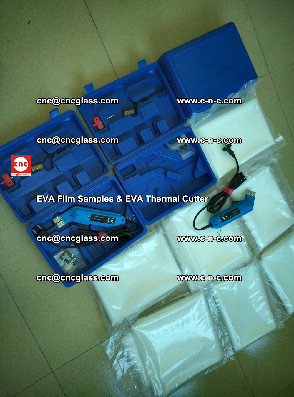 EVAFORCE SUPER CLEAR EVA Film Samples and EVA Thermal Cutter (16)