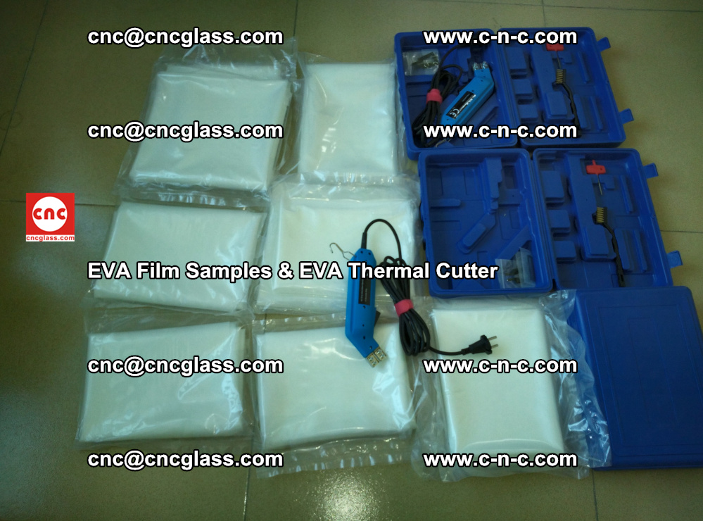 EVAFORCE SUPER CLEAR EVA Film Samples and EVA Thermal Cutter (25)