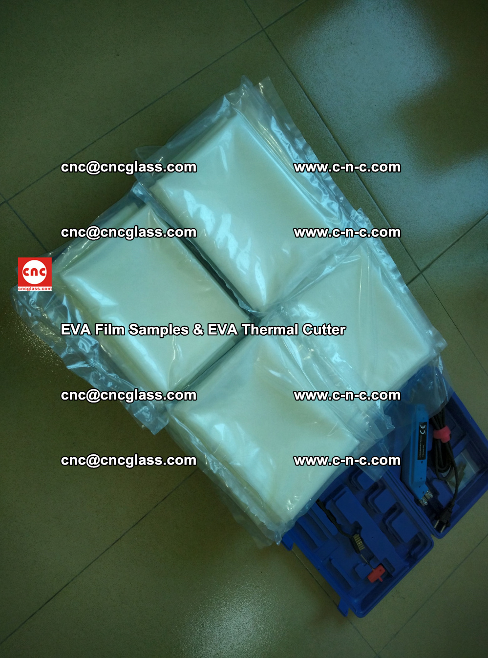 EVAFORCE SUPER CLEAR EVA Film Samples and EVA Thermal Cutter (40)