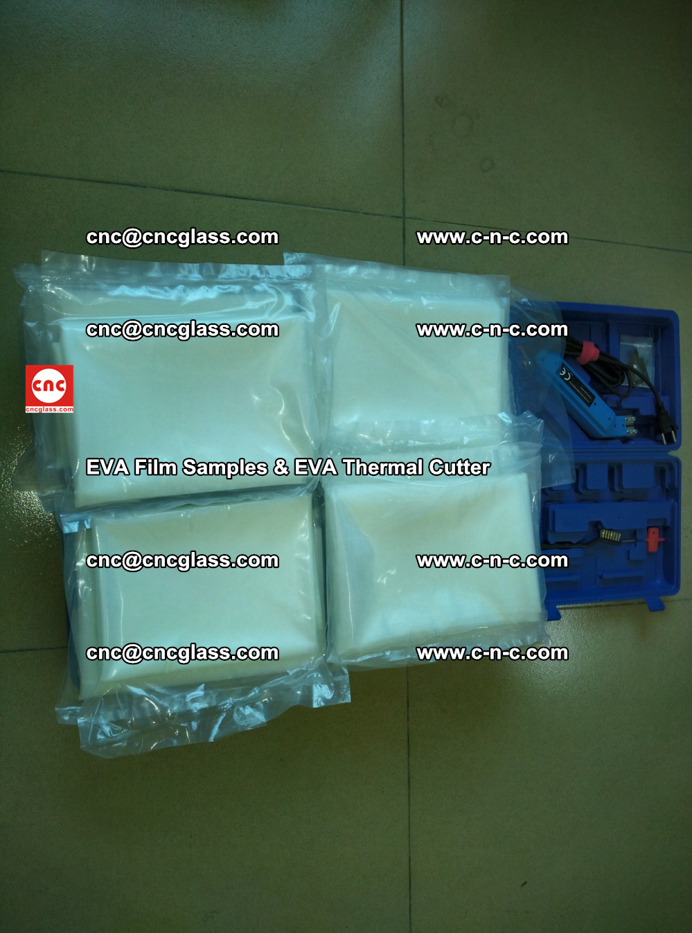 EVAFORCE SUPER CLEAR EVA Film Samples and EVA Thermal Cutter (42)