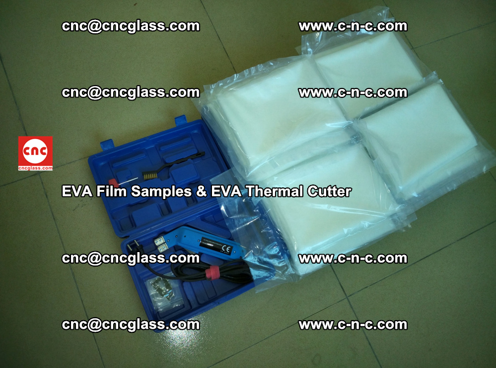 EVAFORCE SUPER CLEAR EVA Film Samples and EVA Thermal Cutter (50)