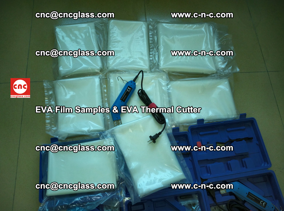 EVAFORCE SUPER CLEAR EVA Film Samples and EVA Thermal Cutter (8)