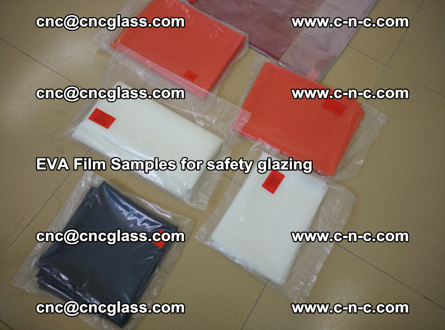 Ethylene Vinyl Acetate EVA FILM INTERLAYER samples for laminated safety glass (1)