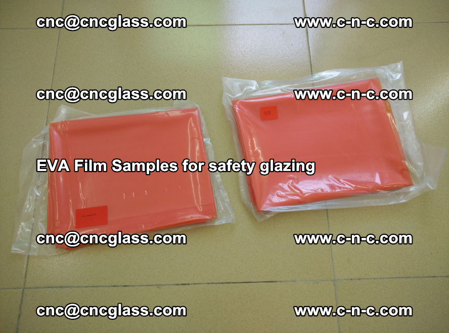 Ethylene Vinyl Acetate EVA FILM INTERLAYER samples for laminated safety glass (11)