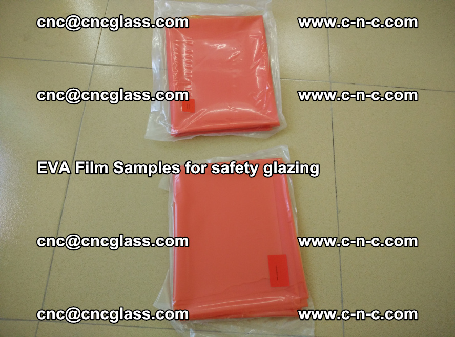 Ethylene Vinyl Acetate EVA FILM INTERLAYER samples for laminated safety glass (14)