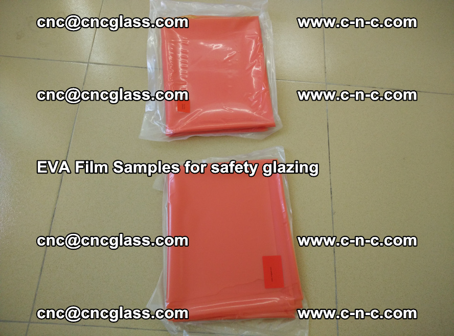 Ethylene Vinyl Acetate EVA FILM INTERLAYER samples for laminated safety glass (15)