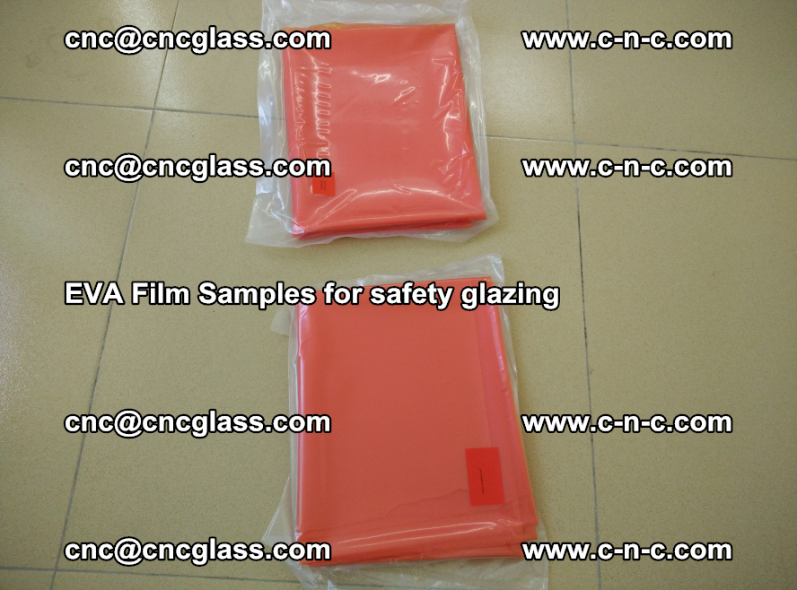 Ethylene Vinyl Acetate EVA FILM INTERLAYER samples for laminated safety glass (16)
